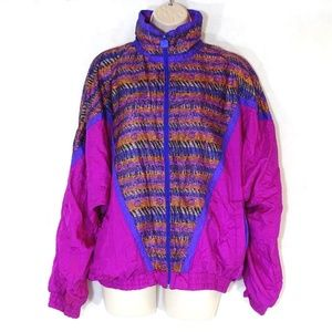 Vintage White Stag Track Jacket Size M Purple